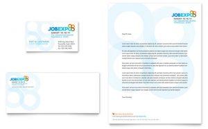 Carti de vizita la comanda model ILY-STKL-9668. Grafica carti de vizita model Job Expo & Fair Cariera