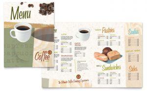 Grafica meniu restaurant Cafeanea ILY-STKL-23212