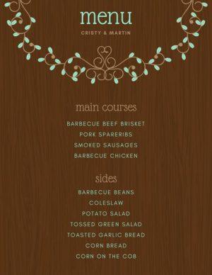 Design grafic meniu restaurant ILY-CANV-10610