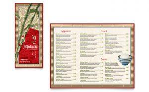 Grafica meniu restaurant Japonez ILY-STKL-23234