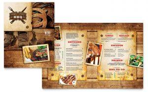 Printare meniuri de restaurant Barbeque ILY-STKL-23203