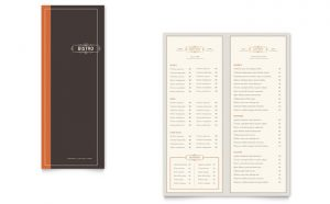 Printare meniuri de restaurant Bistro ILY-STKL-23226