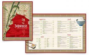 Printare meniuri de restaurant Japonej ILY-STKL-23213