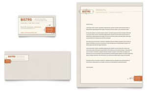 Template carti de vizita model ILY-STKL-9717. Grafica carti de vizita model Bistro & Bar