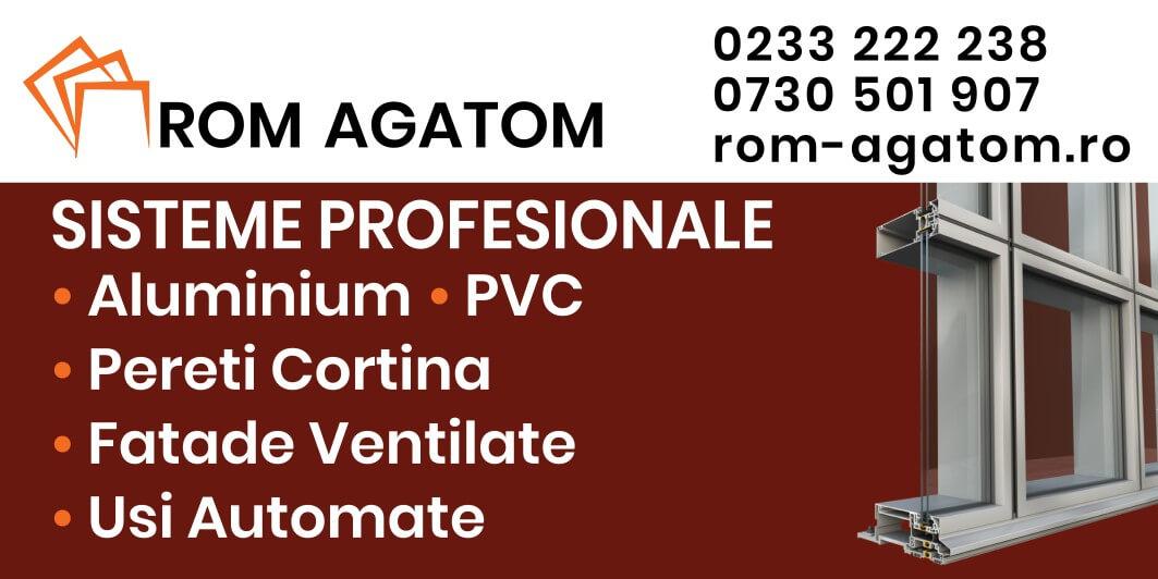 Grafica si print banner Rom Agatom Pereti cortina si fatade ventilate