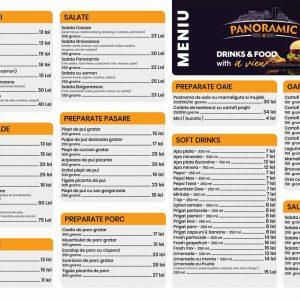Grafica Meniu Restaurant A3 Panoramic Beer & Grill