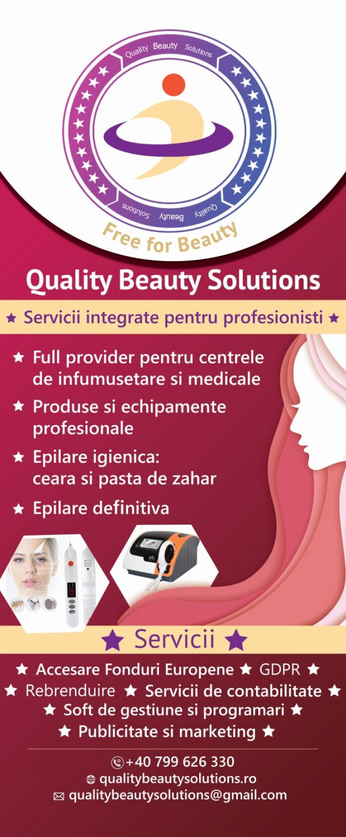 Grafica Roll UP 85x200 cm Quality Beauty Solution